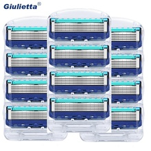 12 Pcs / Pack  Men Razor Blades Facial Care Shaving Cassettes Men Shaving Blades Compatible with Gillettee Fusione