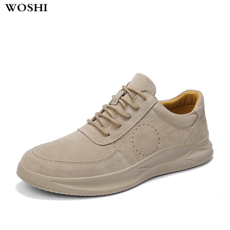 Men Shoes Casual Genuine   Leather   Moccasin Handmade Vintage Tenis Masculino Adulto flats lace up breathable spring Shoes k3