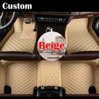 Custom make car floor foot mats special for Infiniti QX70 FX FX35 FX30D FX37 FX50 waterproof 3D car styling leather rug liners