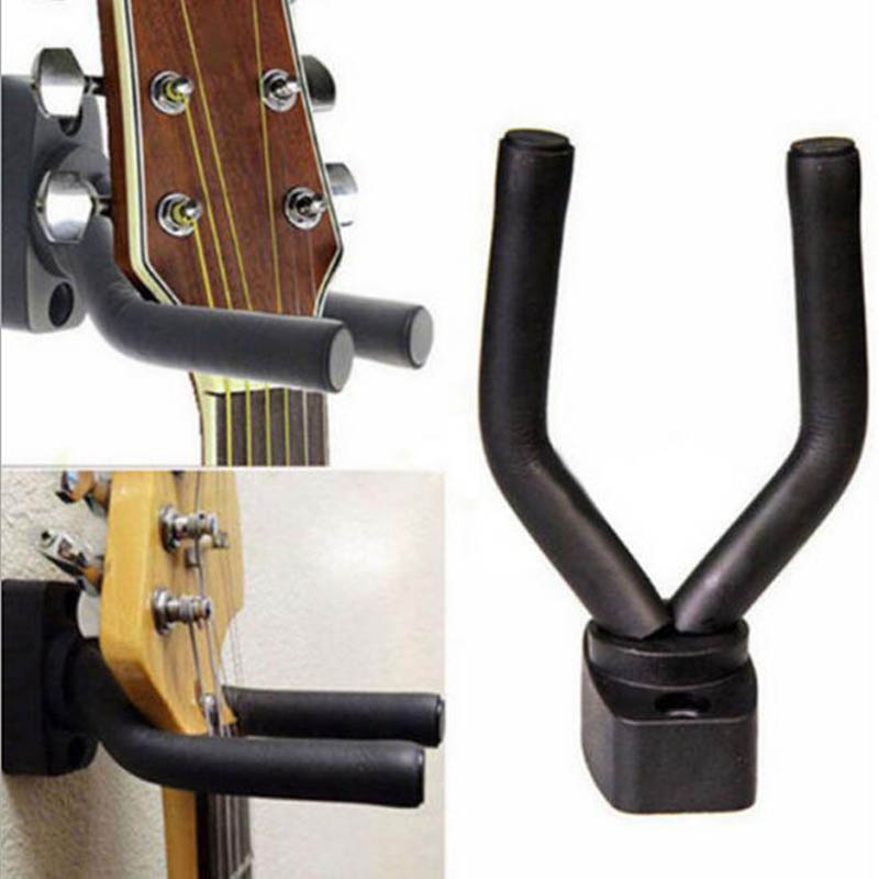 guitar hanger hook holder wall mount stand guitar display bracket wall mounted guitar wall. Black Bedroom Furniture Sets. Home Design Ideas