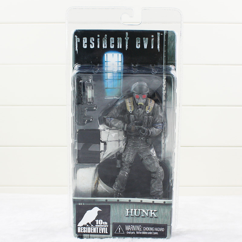 17cm Game Resident Evil Figure Toy Biohazard Hunk With Mask NECA Model Doll