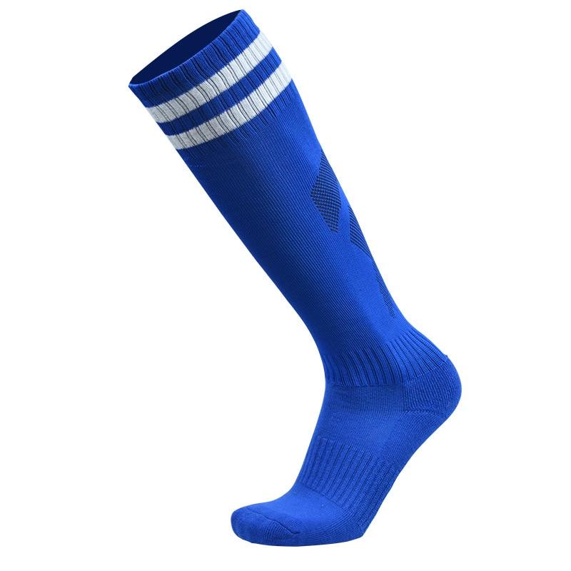 1 пара спортивные носки полиэстер прочный дышащий пота Футбол Бег Велоспорт утолщение открытый спортивные гольфы для Для мужчин мальчиков - Цвет: Небесно-голубой