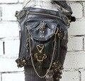 2017 Tendencia Steampunk Cintura Pacs Del Muslo Pistolera de la Pierna y La Cadera paquete de Bolsa de La Vendimia Medieval Knight Muslo Pistolera de Rock Retro Monedero gótico
