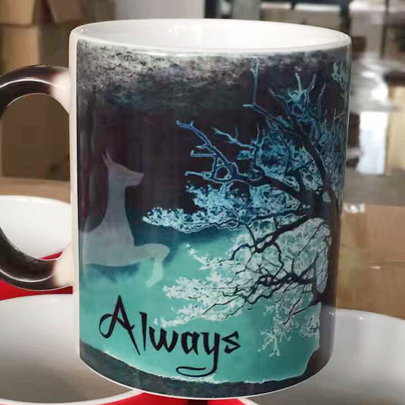 The Walking Dead Color Change Ceramic Coffee Mug and Cup Fashion Gift Heat Reveal Magic Zombie Mugs for Halloween Day