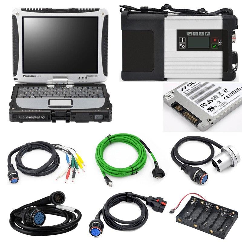 2019,09 TOUGHBOOK CF 19 4 Гб полное Программное обеспечение 360 гб CF19 SSD с MB STAR C5 MB SD Подключение компактный 5 диагностический инструмент готовый к работе