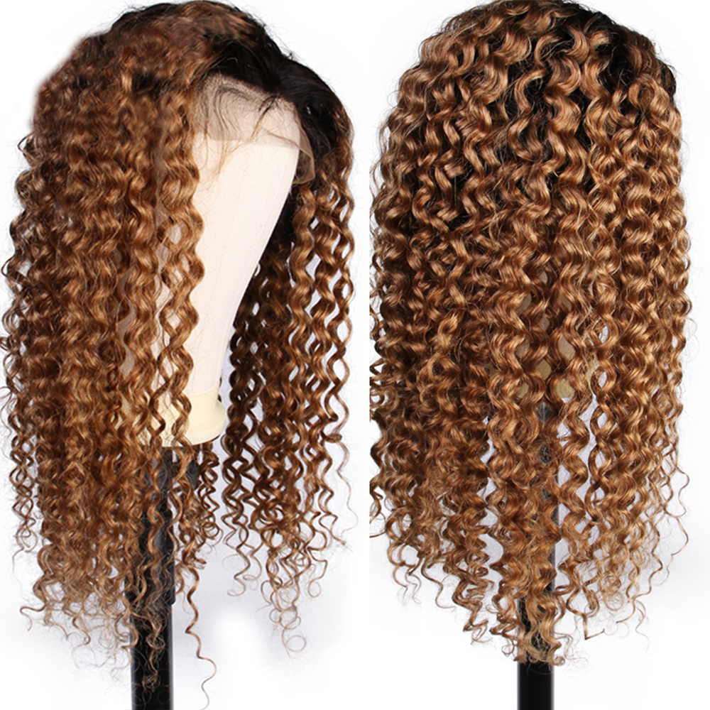 Lace Wigs Human Hair Lace Wigs Steady Eversilky Ombre Blonde Curly Wig 13x6\13x3 Lace Front Human Hair Wigs For Black Women 360 Lace Frontal Wig Peruvian Remy Hair For Fast Shipping