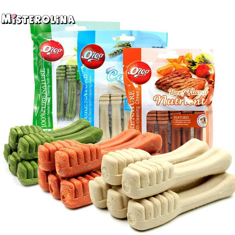 Pet Supplies Dog Teeth Stick Pet Fresh Clean Teeth Bones Puppy Dog Tooth Stick Pet Training Snacks Bite Dog Chew Play Toy Gls615
