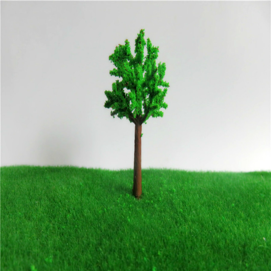 new architecture 3d scale artificial plastic model  green tree  layout115