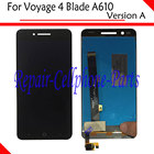 Black 100% New Full LCD DIsplay + Touch Screen Digitizer Assembly Replacement For ZTE Voyage 4 Blade A610 - Version A
