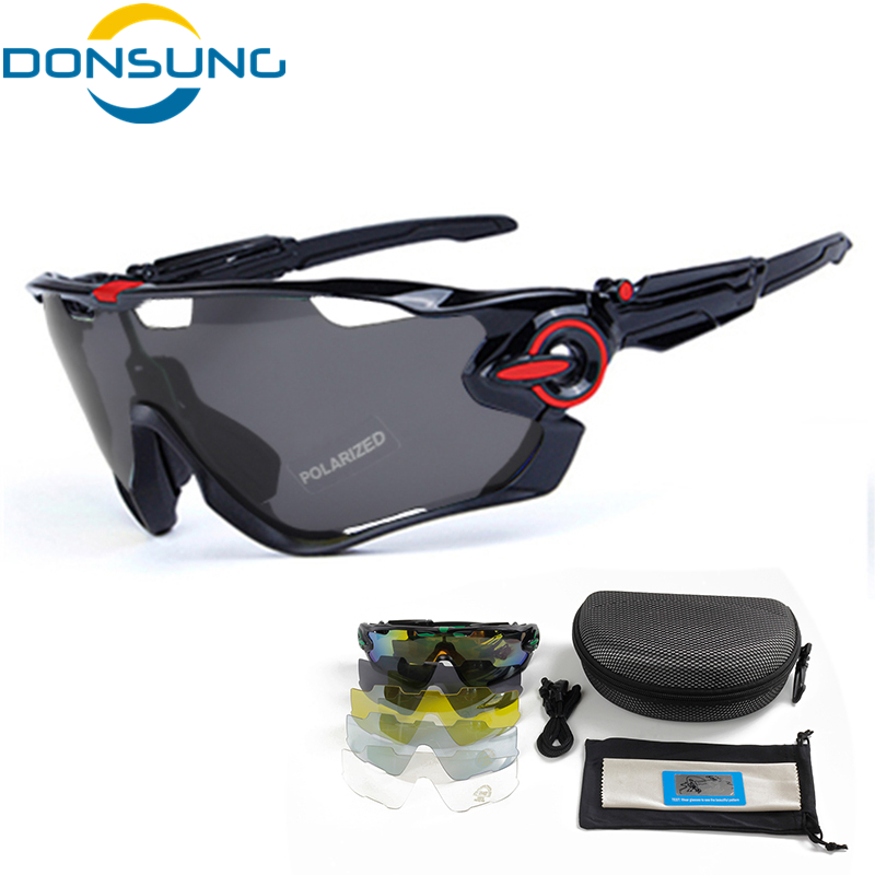 DONSUNG Sports Sunglasses Cycling Polarized Glasses MTB Adjustable Leg TR 90 Frame 5 Lenses Bike Sport Goggles Bicycle Eyewear obaolay outdoor cycling sunglasses polarized bike glasses 5 lenses mountain bicycle uv400 goggles mtb sports eyewear for unisex