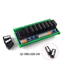 Original quality 10-way 1NO, 10RG-ODE-24V PLC amplifier board, original Omron relay module цены
