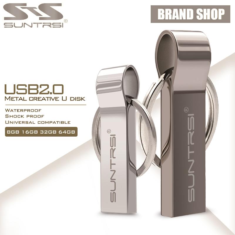 Prix pour Suntrsi usb flash drive 10 pcs/lot pendrive 64 gb usb en métal bâton haute Vitesse D'entraînement de Stylo de Vraie Capacité USB Flash Stylo Personnalisé Drive