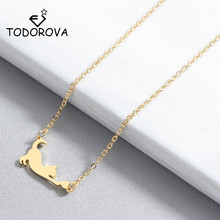 Todorova Cute Sweet Cat Pendant Necklace Fashion Jewelry Animal Necklaces for Women Girl Clavicle Chain Choker Necklace Gift cute crystal green fox pendant necklace for women jewelry trendy animal gold chain necklaces female clavicle accessories latest