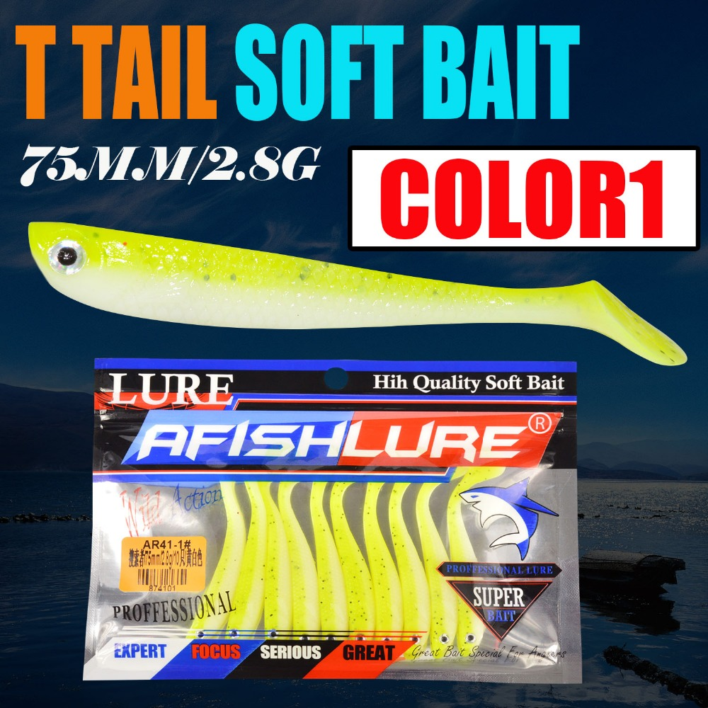 10pcs/lot Soft Bait Fish 75mm 2.8g Fishing Lure TT Shad Silicone Bass Minnow Bait Swimbaits Plastic Lure Pasca Leurre Soft Lure 10pcs 7 5cm soft lure silicone tiddler bait fluke fish fishing saltwater minnow spoon jigs fishing hooks