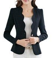 NIEUWE Herfst casual jassen vrouwen slanke korte ontwerp pak jassen kantoor vrouwen jas kleding