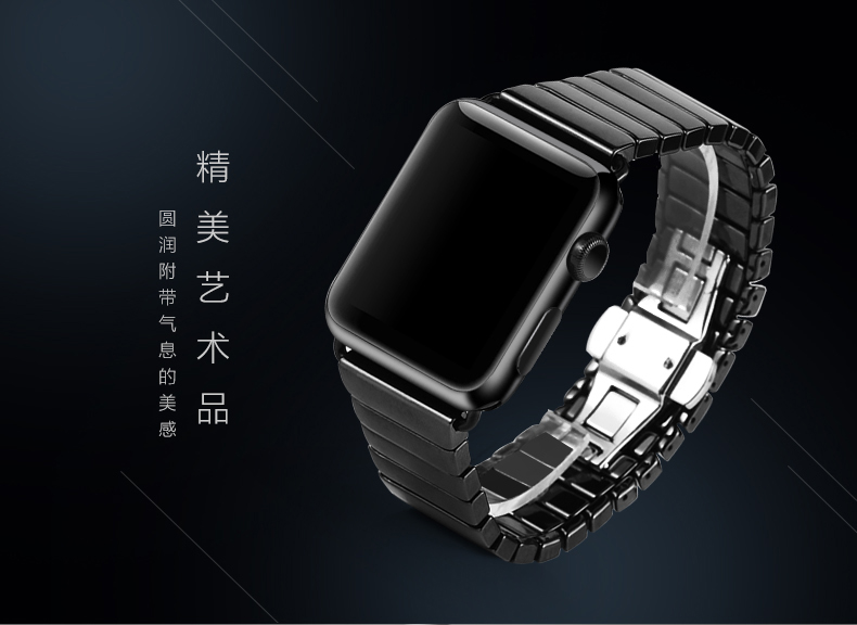 Ceramic Watchband For Apple Watch Band 38mm 42mm 40mm 44mm Links Bracelet Ceramic For Apple Watch Straps Series 4 3 2 1