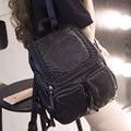 Осенью 2017 новый ветер Рюкзак Школьный рюкзак женский женская сумка все матч мешок студент мешок простой мешок отдыха