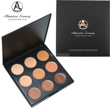 Professional 9 color Natural Face Concealer Palette Contour Cream Kit Makeup Foundation 2# Facial Make-up