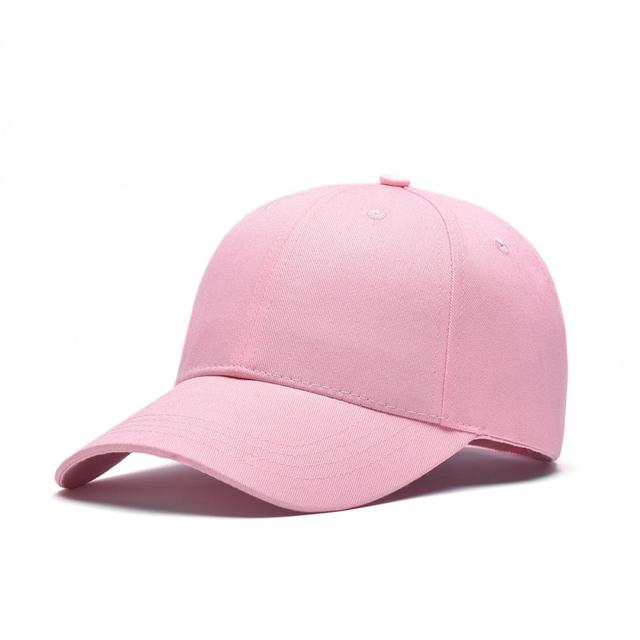 f272c07a57b Pink Adult Unisex Casual Solid Adjustable Baseball Caps Snapback Hats For  Women Men Baseball Cap Colorful Baseball Cap Hat Cap