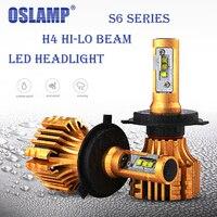 Oslamp S6 Series Led Headlight H4 6500k Flood SMD Chips 70W Car LED Headlight Bulbs 7000LM