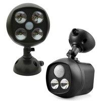 Impermeable LED Proyector Sensor de Movimiento Luz Luces IP65 Inalámbrico Outwall de CLH