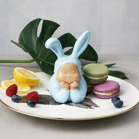Art угол Фея рисунок Nordic Статуя Фигурка Miniture baby blue домашний декор, скульптура Зайчик мальчик дети Chirsmas подарок ручной работы
