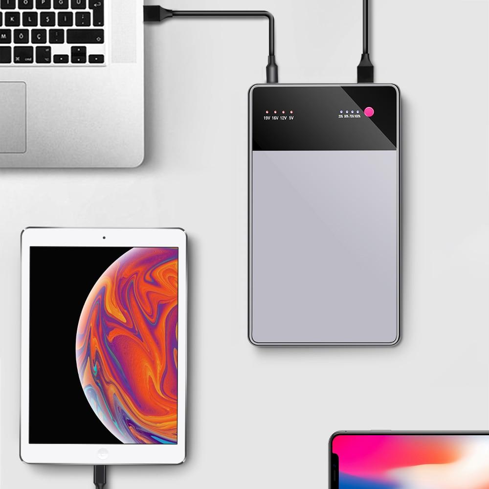 40000 mAh ordinateur portable batterie externe 3.5A DC5V-19 V USB chargeur de batterie externe pour ordinateurs portables ordinateurs portables tablettes iPhone pour xiaomi plm07zm
