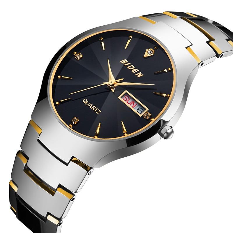 Watches men Business Dress Tungsten Steel Watch male quartz wristwatches waterproof Casual Sport Clock Gift relogio masculino