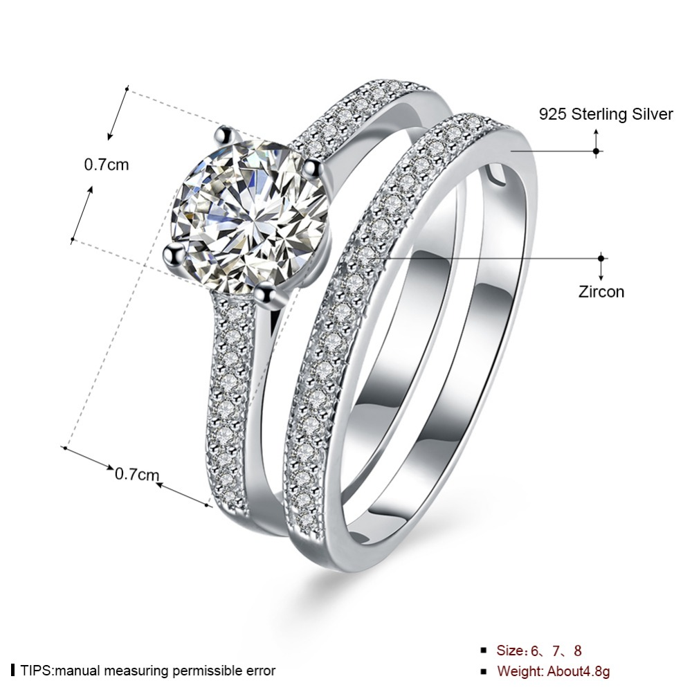 78555f272 Classic 100% Real Pure 925 Sterling Silver Ring,s925 Party /Engagement /  Wedding Rings For Women,Pair of 925 silver rings-in Engagement Rings from  Jewelry ...