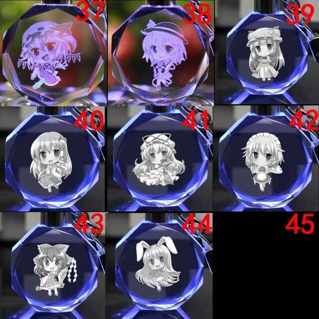 Светодиодный аниме брелок кристалл Touhou Project 1