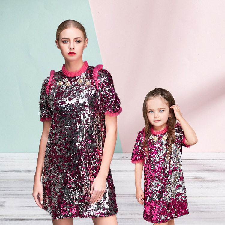 2017 robe mere fille new family look mother daughter dresses matching mother daughter clothes - Robe mere fille ...