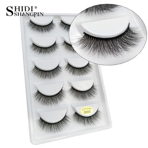 Image 4 - LANJINGLIN 50 boxes / lot mink eyelashes natural long false eyelashes 100% handmade soft 3d mink lashes makeup faux cils G800