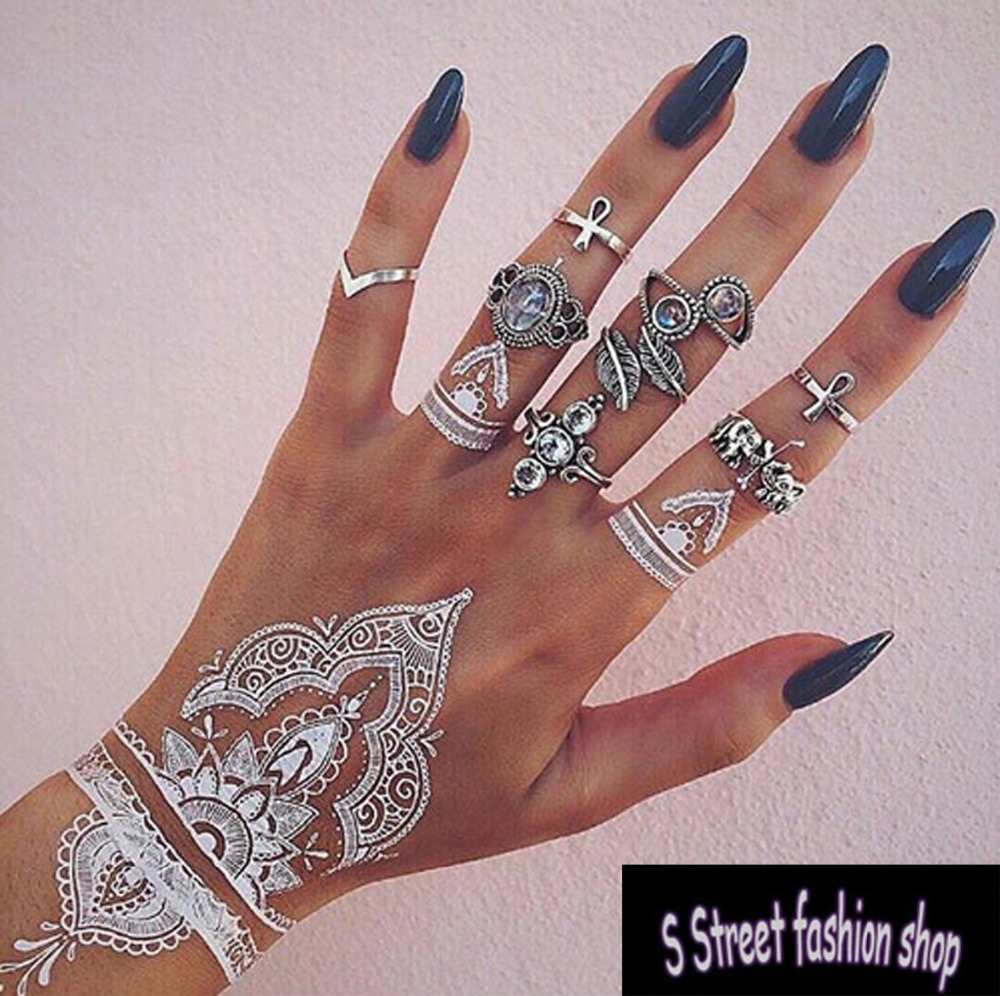 Bls 014 White Lace Back Henna Bracelet Temporary Tattoo Flash Tattoo