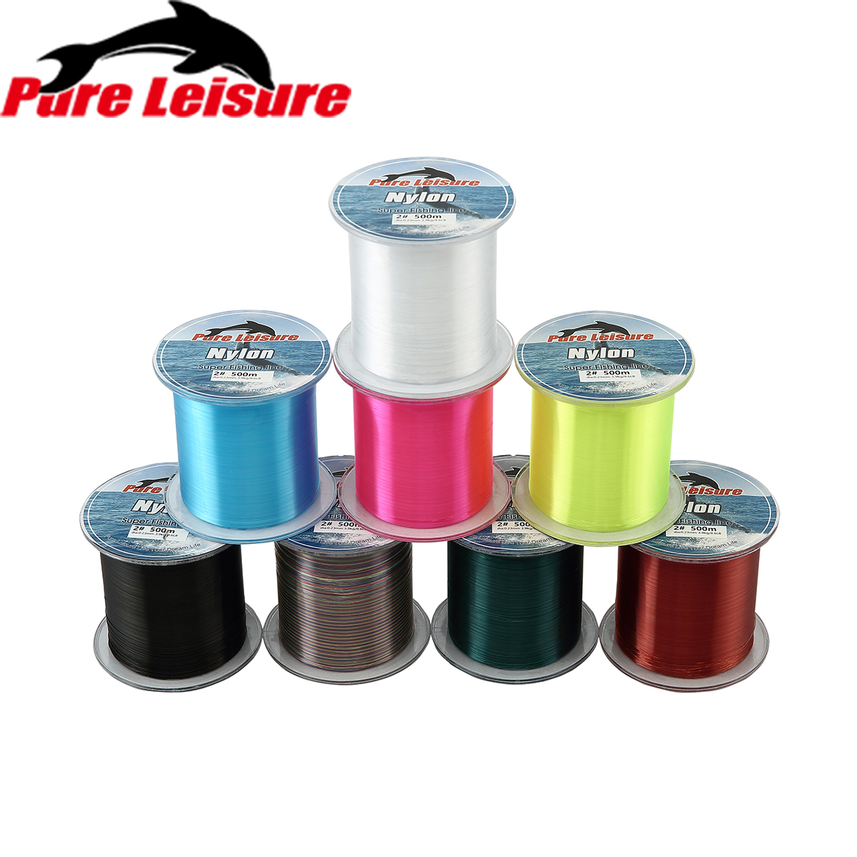 PureLeisure fil de peche nylon fluorocarbone 500M Fishing Lines 500m Strong Nylon Fishing Line Wire Fil De Peche Nylon 500M hd2 5 nylon sea fishing line brown 500m
