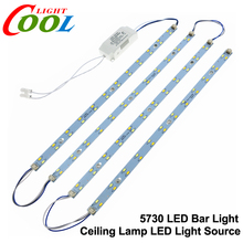 5730 LED Bar Lights LED Tube Ceiling Lamp LED Light Source High Brightness with Power Driver + Magnetic Holder.