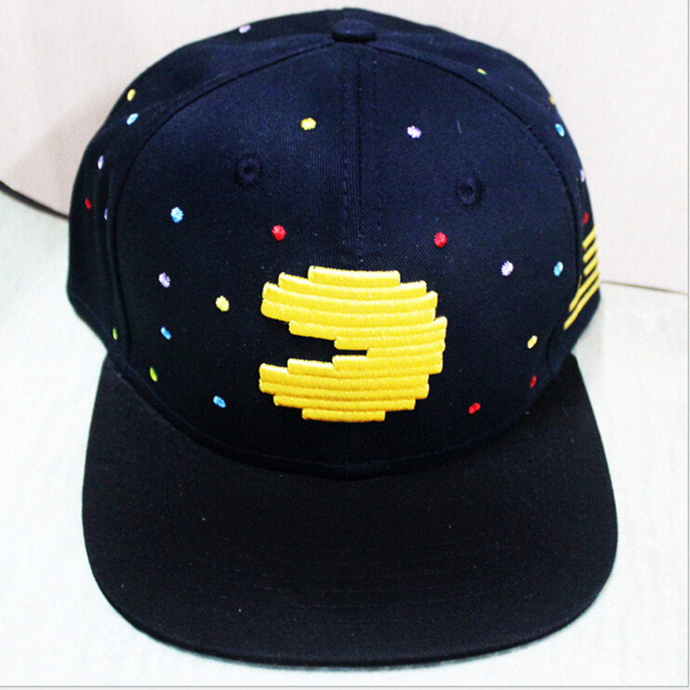 Game Series Player Man Pacman Cosplay Cap black Novelty personality PAC-MAN Hats cartoon ladies dress Costume Props Baseball cap new cartoon pikachu cosplay cap black novelty anime pocket monster ladies dress pokemon go hat charms costume props baseball cap