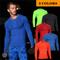 men t shirt tight bodybuilding compression t-shirts crossfit for man fitness breathable quick dry tight top tee long sleeve