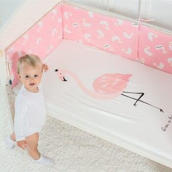 100% de algodón para cuna, Sábana ajustable, suave, transpirable, para cama de bebé, Funda de colchón con dibujos animados, ropa de cama para recién nacido para juego de cama para bebé