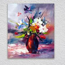 Oil Paintings For  bedroom Wall. Impressionist Flower Decorative Pictures Hand Painted Canvas Art Wall P shipping.
