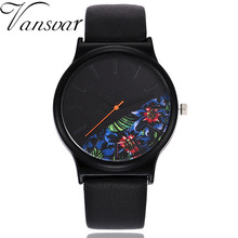 Unisex Unique Watches Women Tropical Jungle Floral Design Leather Band Quartz Wristwatch Creative Casual Sport wristwatch Clock