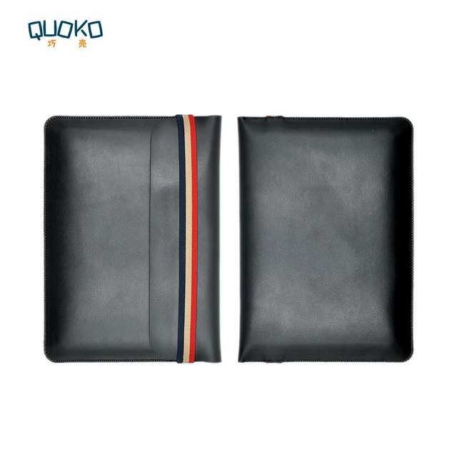 Laptop bag case Microfiber Leather Sleeve for Dell XPS 13 15 9360 9370 9560 9570 Coloured elastic band Style sleeve