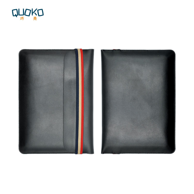 Laptop bag case Microfiber Leather Sleeve for Dell XPS 13 15 9360 9370 9560 9570 Coloured elastic band Style sleeve image