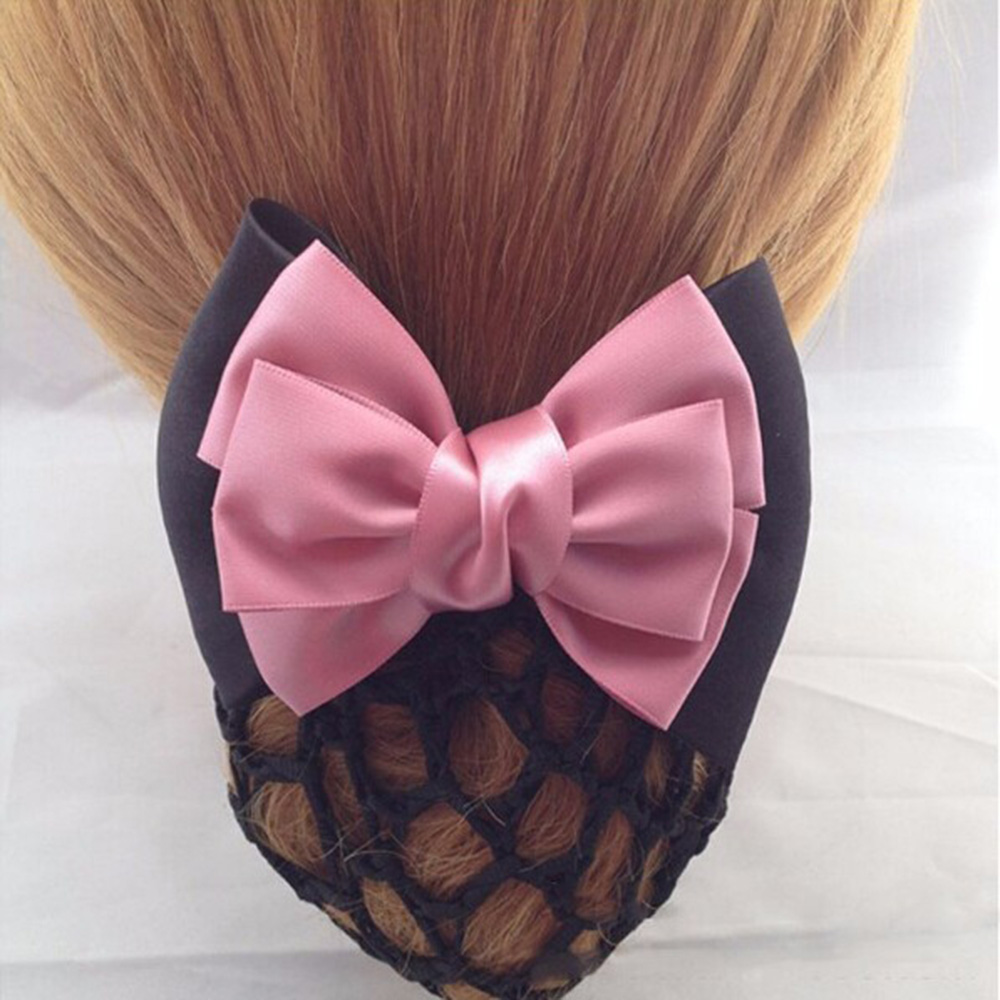 1pc sweet women girl bow barrette hair clip cover hairpins bowknot bun snood hair band. Black Bedroom Furniture Sets. Home Design Ideas