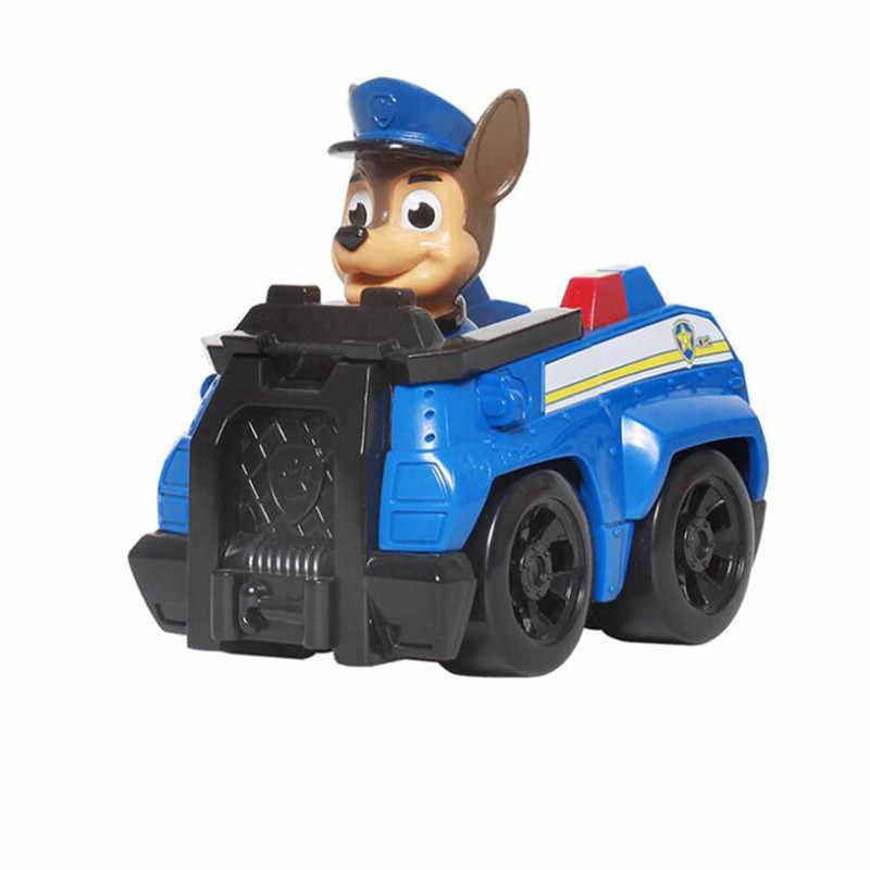 แฟชั่นสไตล์ PAW Patrol สุนัขของเล่นเด็ก Anime Patrulla Canina Action FIGURE Chase MARSHALL Ryder รถเด็กของขวัญ