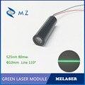 Высокая мощность 525nm80mw ACC привод ACC управляемый промышленный 110 градусов линейный лазерный модуль