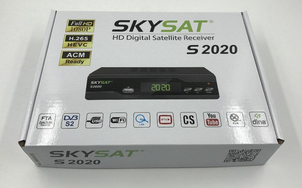 SKYSAT S2020 Twin Tuner Satellite Receiver IKS SKS ACM IPTV M3U H 265 most  stable server Full HD Channels s1008
