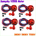 Новые 4 компл./лот SunnySky V3508 380KV 580KV 700KV диск Безщеточный Оптовая Челнока