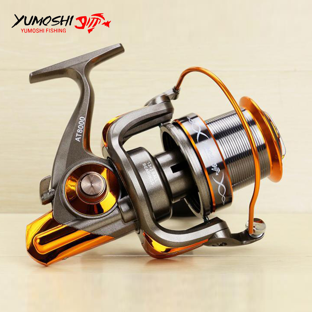 цена Jigging Trolling Long Shot Casting Saltwater Surf Spinning Big Sea Fishing Reel 8000 9000 Series 13+1BB Full Metal Spool 4.6:1