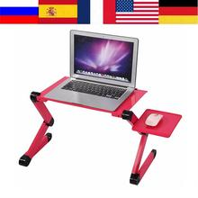 Portable Laptop Desk Stand for Bed Sofa Adjustable Stand Up Computer Laptop Deskes With Mouse Pad Aluminum Notebook Table Desk