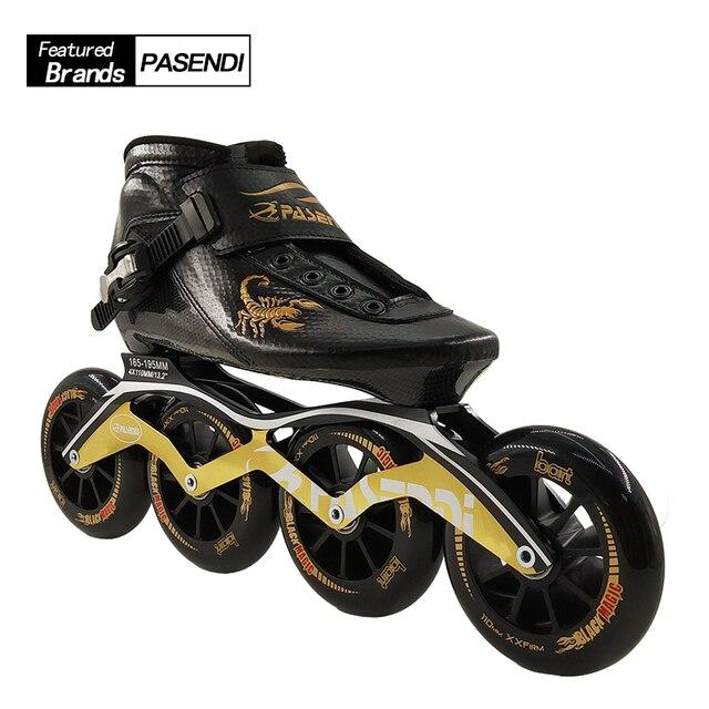 Profesional nueva velocidad Skate zapatos adultos niños fibra de carbono  patinaje mujeres hombres 4 8b76f97d042